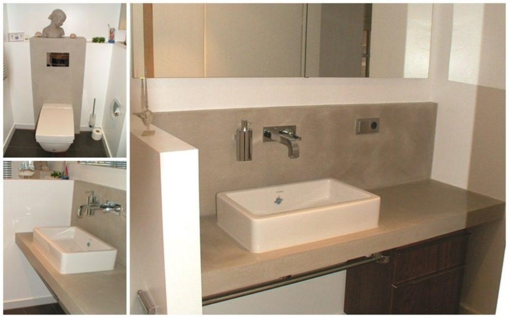 Waschbecken mit Natursteineinfassung