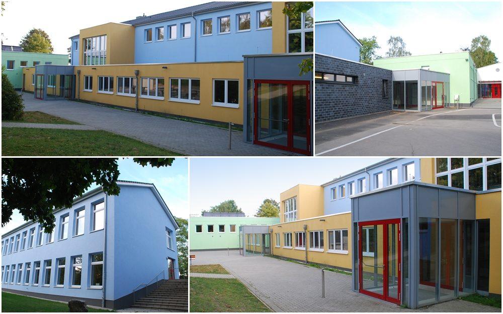 Modernisierung und Fassadenneugestaltung einer Grundschule