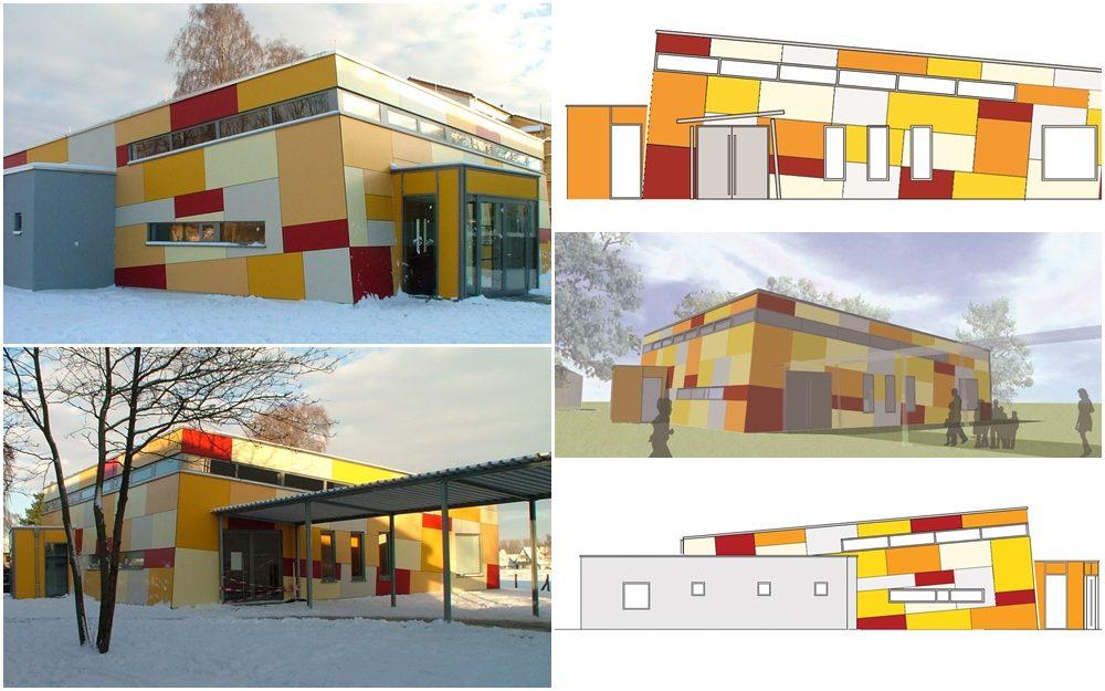Neubau des Forums einer Hauptschule
