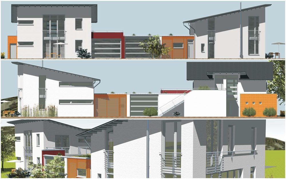 Planung eines Mehrfamilienhauses mit Büro