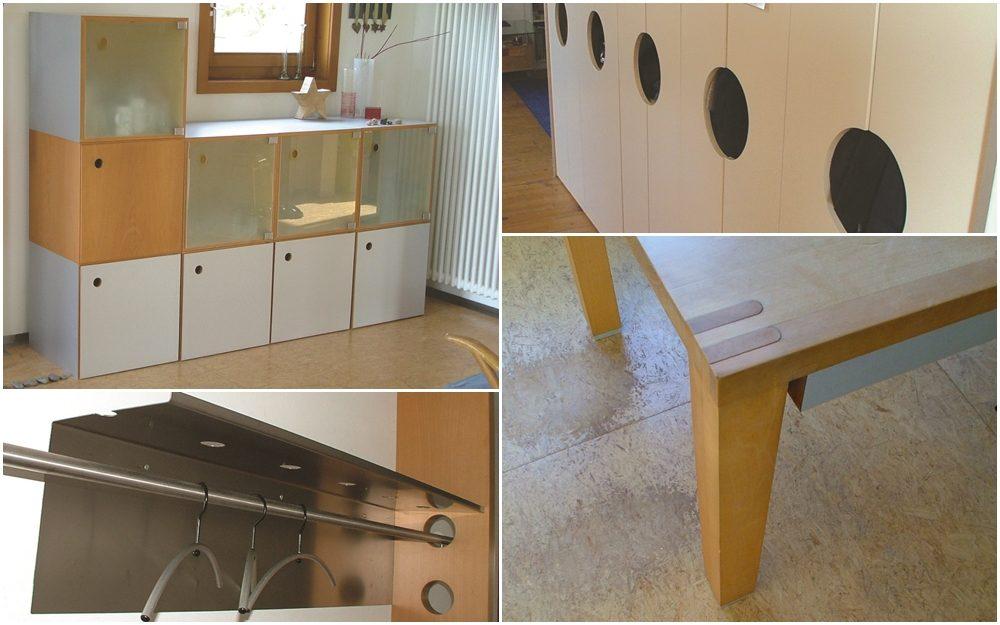 Garderobe, Esstisch, Esszimmer- und Kleiderschrank