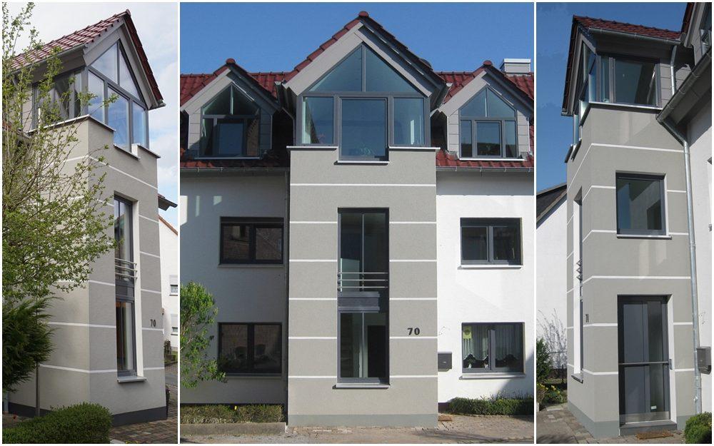 Energetische Sanierung, Dachbodenausbau und Treppenhausanbau