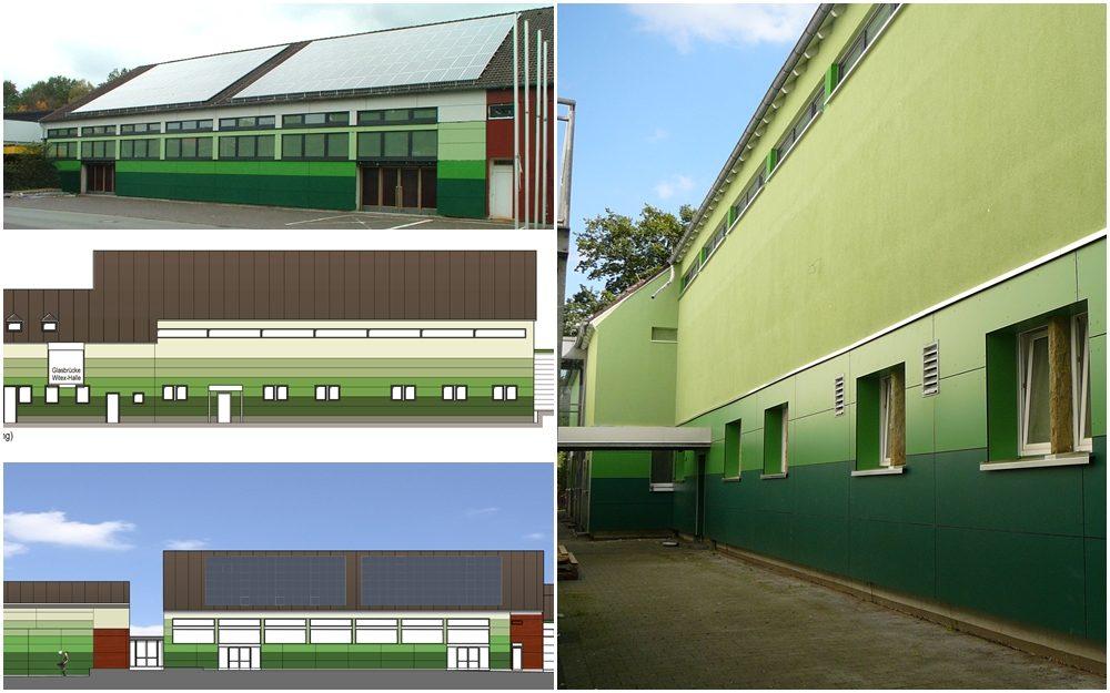 Energetische Sanierung einer Sporthalle