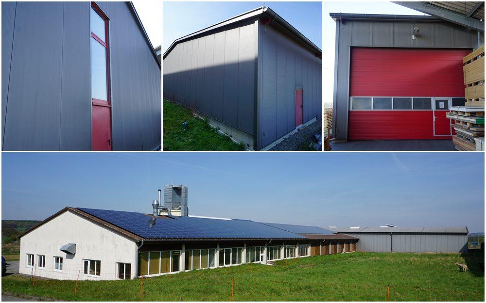 Neubau einer Produktions- und Lagerhalle eines holzverarbeitenden Betriebes
